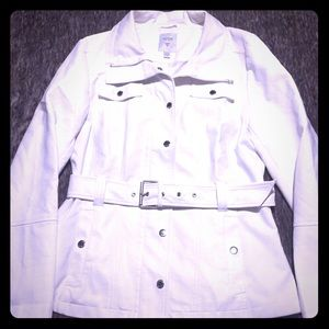 Like new condition, White, Belted, Guess Jacket